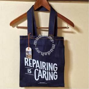 Nudie Jeans Denim Printed Tote Bag