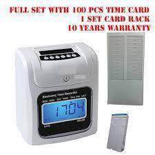 D2 time recorder punch card + 15 years warranty