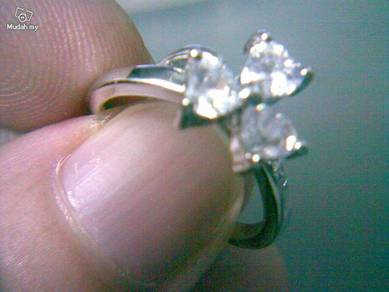 ABRWG-F002 Lovely White Topaz 4x4mm White GF Ring