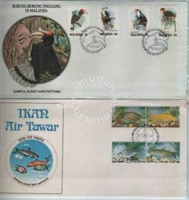 First Day Cover Kingfisher and Fish Malaysia 1983