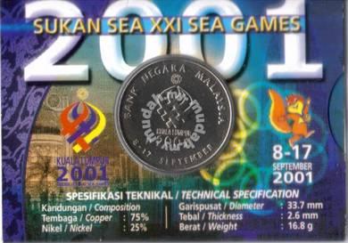 Malaysia Coin Card KTM,JUPEM,Sea Game set