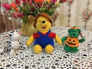 3x stuff doll bear pooh bull