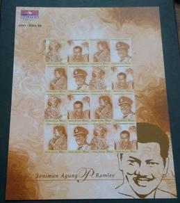 Stamp Sheet Seniman Agung P.Ramlee 1999