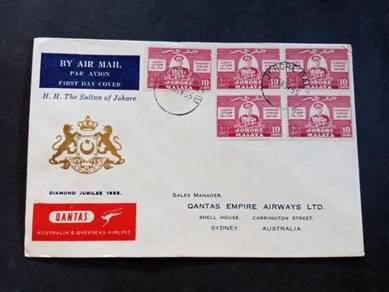 FDC JOHORE Jubilee 1955 No 2542