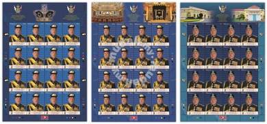 Mint Stamp Sheet Sultan Johor Malaysia 2015