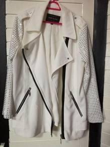 River Island white long sleeve diamond jacket