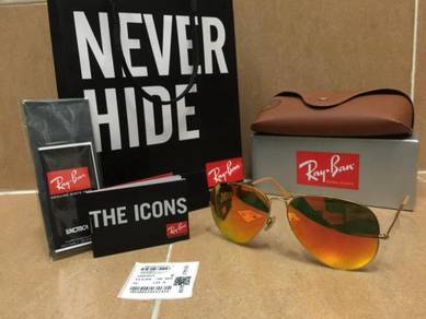 Original Rayban Aviator orange RB3025 sale raya