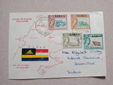 FDC SABAH Borneo 1964 Z033