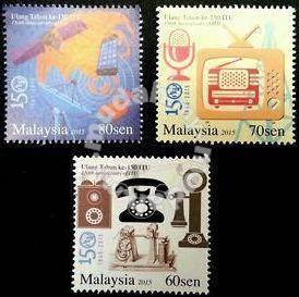 Mint Stamp 150th ITU Malaysia 2015