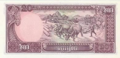 Banknote Cambodia #31a 20 Riels (1979) UNC