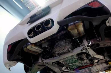 Ferrari 458 engine oil service mobil 1