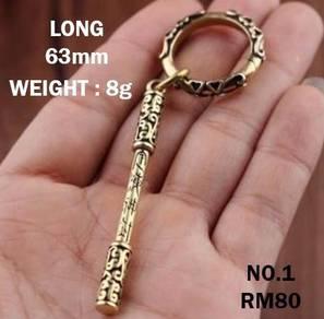 Pure Copper Sun Wukong Keychain Stick | Wukong
