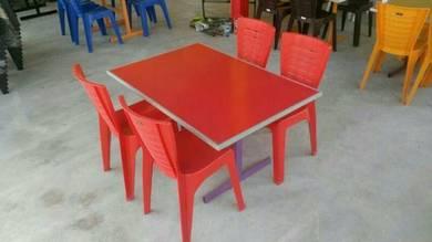 Meja restoran merah ( penghantaran percuma)