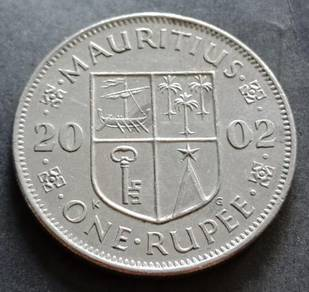 Mauritius One Rupee 2002