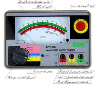 DY4102 ground resistance tester, Analog, earth res