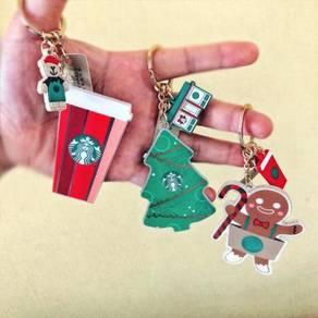 Starbucks 2018 Christmas Special Gift Keychain Set