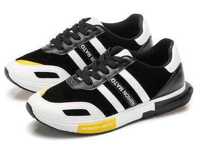 0249 Mixed Black White Sneaker Casual Sports Shoes