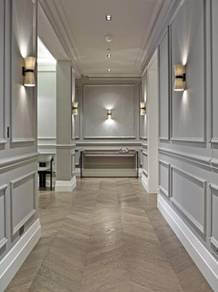 Stair wainscoting paneling