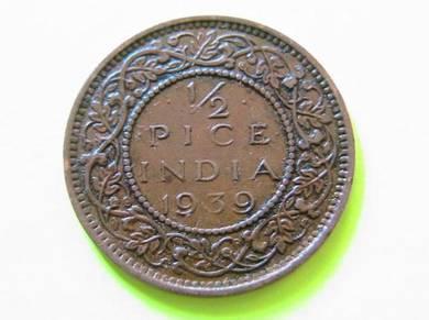 1/2 Pice India 1939