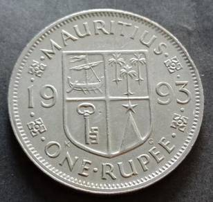 Mauritius One Rupee 1993