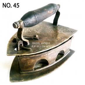 Seterika Antik 2 Lubang Motif Naga - No. 45