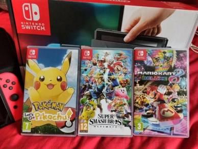 Nintendo Switch   3 Games   Case   Controller