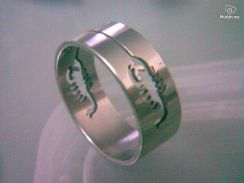 ABRSS-S009 Silver Drill Stainless Ring - Scorpion