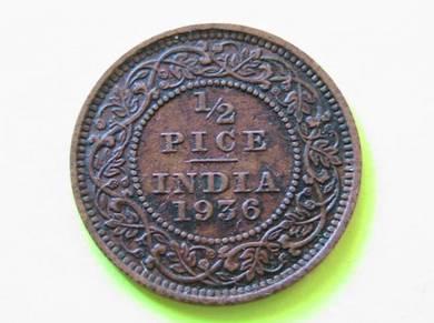 1/2 Pice India 1936
