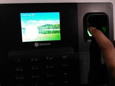 Fingerprint time attendance punch card realand
