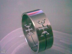 ABRSS-C003 Silver Drill Stainless Ring - Celtic S8