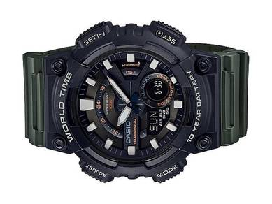 Casio World Time 10 Year Battery Watch AEQ-110W-3A