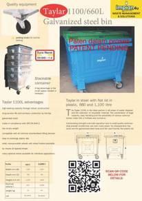 Taylar brand galvanized iron bin waste bin top1