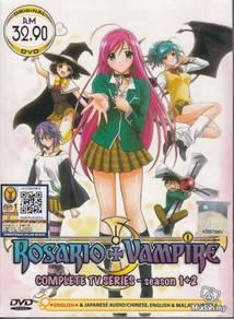 DVD ANIME ROSARIO + VAMPIRE Season 1+2