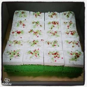 Pandan Slice Sponge Cake