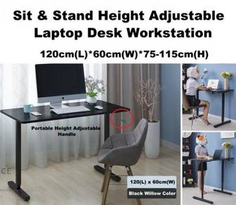 Sit Stand Height Adjustable Manual Handle Table