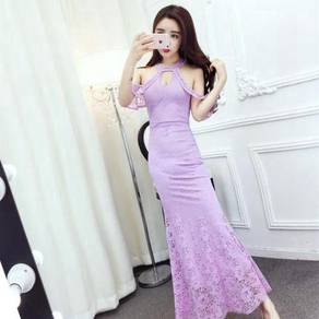 Lace halter neck sexy bodycon prom dress RBP0557