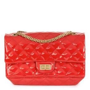 Chanel Red Quilted Patent Leather 2.55 Reissue