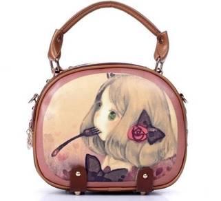 01724 Cute Girl Design Woman Mini Bag Handbag