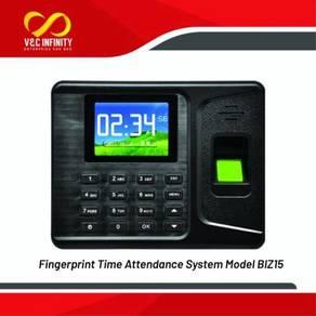 Fingerprint time attendance punch card clock in