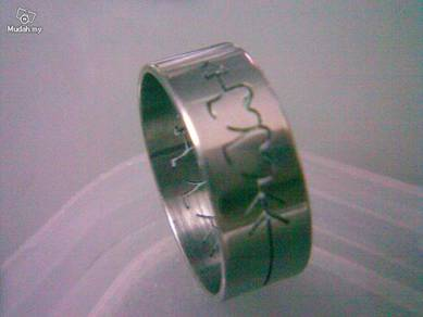 ABRSS-L010 Silver Drill Stainless Ring-Love Arrow