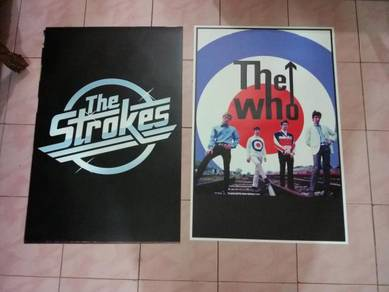 Poster THE WHO DAN THE STROKES LOGO