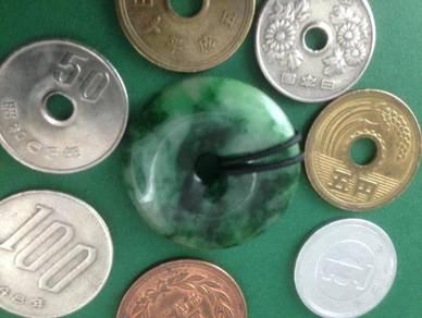 Rantai leher kalung loket Batu Permata Jade Raja