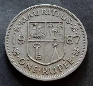 Mauritius One Rupee 1987