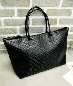 Retro Korean Fashion Shoulder Casual Woven Bag