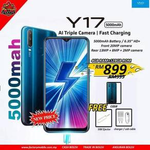 NEW vivo Y17 [4+128] triple camera 5000mah batery
