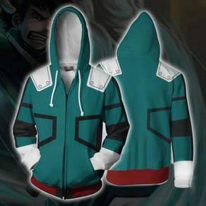 My Hero Academia sleeve long zipped hooodie
