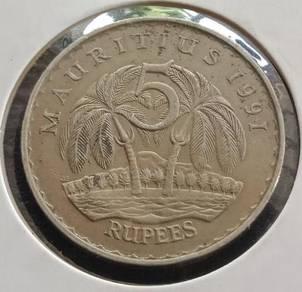 Mauritius 5 Rupees 1991