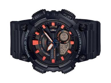 Casio World Time 10 Year Batt. Watch AEQ-110W-1A2V