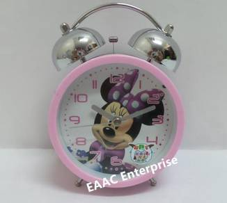 Minnie Pink Twin Bell Alarm Clock for Kids 2