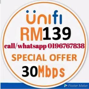Tm unifi home fiber 30/50/100mbps promo